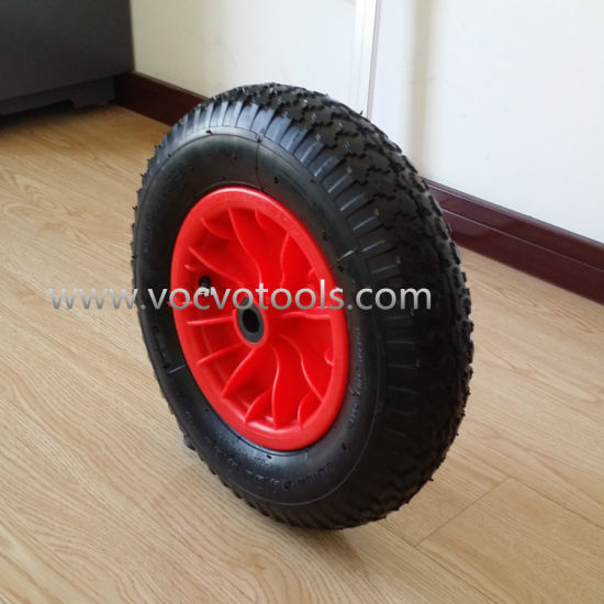 Hot Sale Pneumatic Rubber Wheel and Plastic Rim pictures & photos