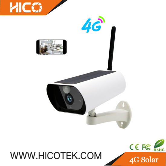4G Solar Battery Powered Waterproof Outdoor WiFi Mini Night Vision IR Security CCTV Digital IP Video Bullet PTZ APP SD Card PC Web Camera