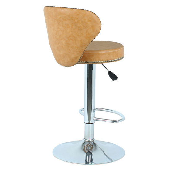 Cool Faux Leather Bar Stool Modern Swivel Dining Arm Chair Chrome Base Bar Stool Onthecornerstone Fun Painted Chair Ideas Images Onthecornerstoneorg