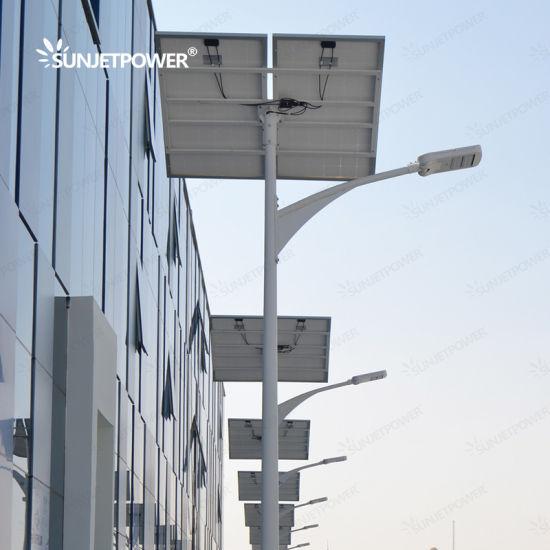 Jinko Solar Cells MPPT Controller 60W Dimming Ni-MH Battery Outdoor Solar LED Street Light TUV SGS BV Inspected Factory for Integrated Solar Light