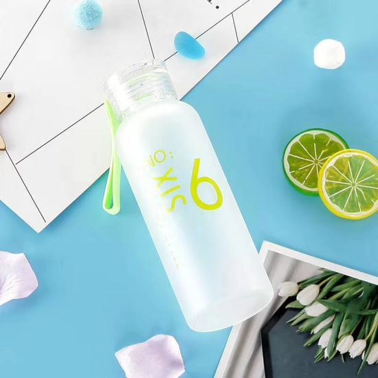 Eco-Friendly BPA Free Biodegradable Frosted Wheat Straw Fiber Water Bottles Custom Print Glass Water Bottle