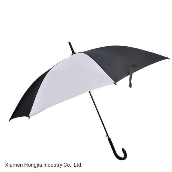23 Inch China Wholesale Made Automatic J Handle Straight Umbrella