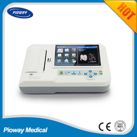 Hospital Equipment Machine Touch Screen ECG Machines (ECG600G)