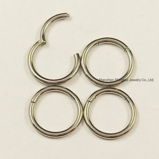 Stainless Steel Silver Colour Seamless Ring Nose Ring code 1