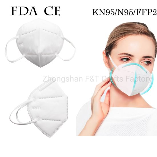 Certified Kn95, N95, Ffp2 Face Mask, Adult Children Daily Protective Non-Woven Masks