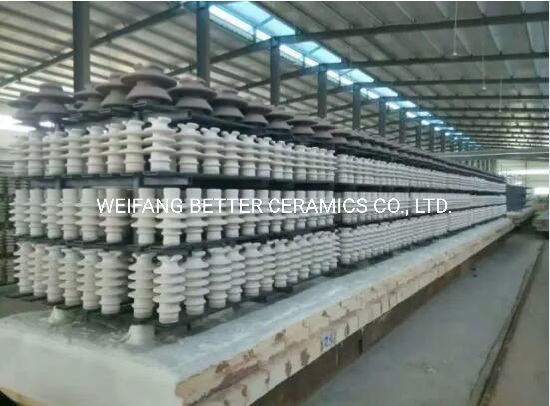 Silicon carbide ceramic beam used to porcelain insulator kiln