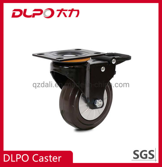 Dlpo Universal Brake Small Caster Er Wheels for Trolley and Furniture