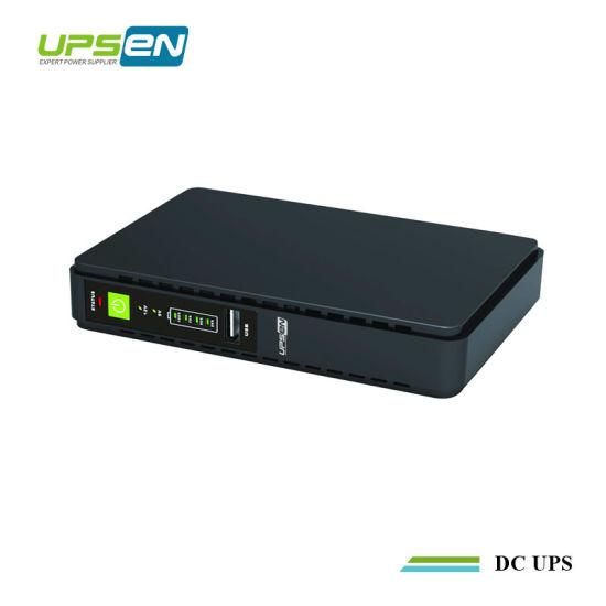 Upsen 5V/9V/12V/15V/24V DC Mini UPS with Poe for Router/Modem/CCTV Camera