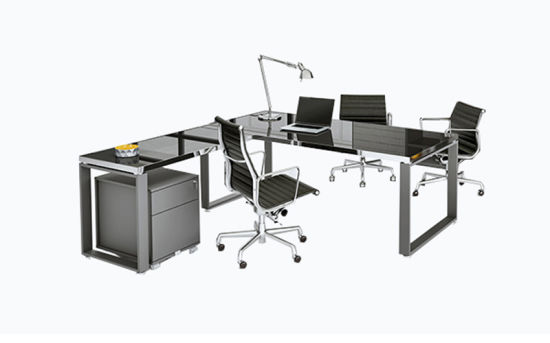 Modern Design Furniture Executive Clear 12mm Thickness Tempered Glass Office Desk (YLDK1050)