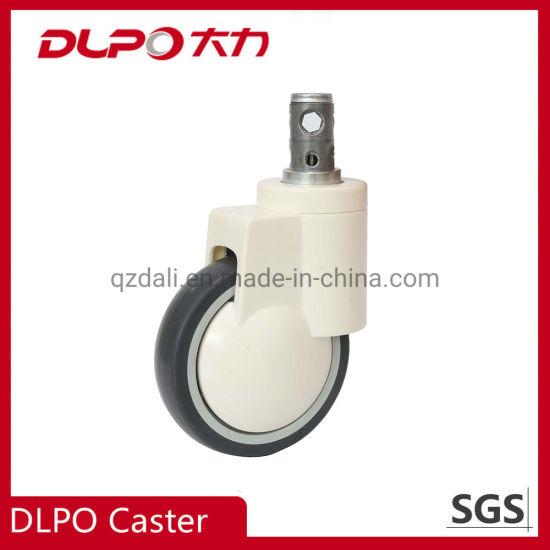 Manufacturer Plunger Type Double Wheels Central Control Castor for Medical Instruments