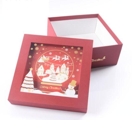 Christmas Gift Box Christmas Eve Apple Box Perfume Box Lid and Based Box Scarf Packing Box