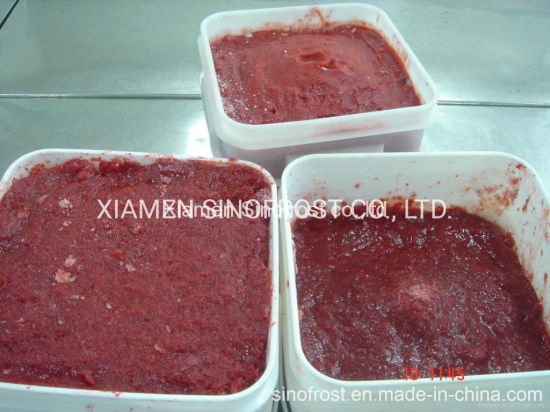 Frozen Strawberries Puree, Frozen Strawberry Puree, with Seeds/Without Seeds, Packed in Carton/Pail/Drum, ISO/HACCP/Brc/Kosher/Halal