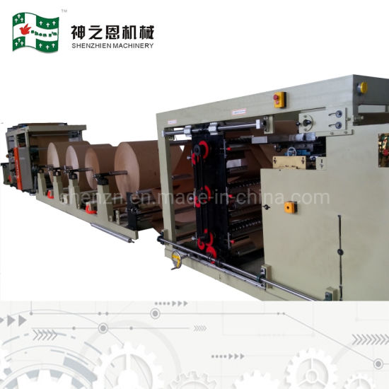 Food Grain Rice Flour Feed Multilayer Paper Sacks Tube Making Machine