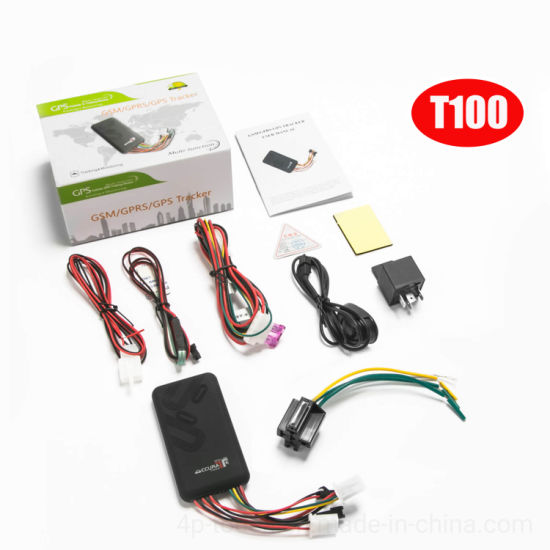 Hot Selling Car GPS Tracking for Motorcycle or Vehicle with Sos Button T100
