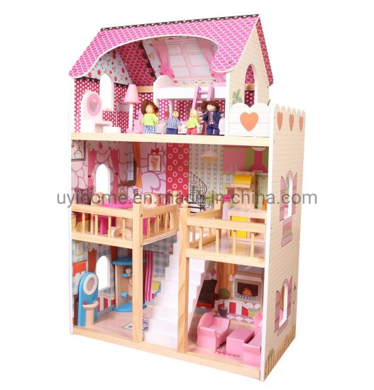 Hottest Dollhouse with Mini Furniture for 18 Inches Barbies pictures & photos