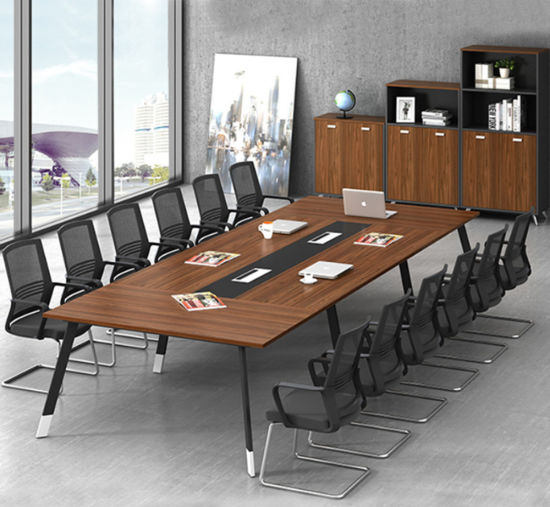 High End Office Supplier Modern Chinese Wooden Panel Conference Table