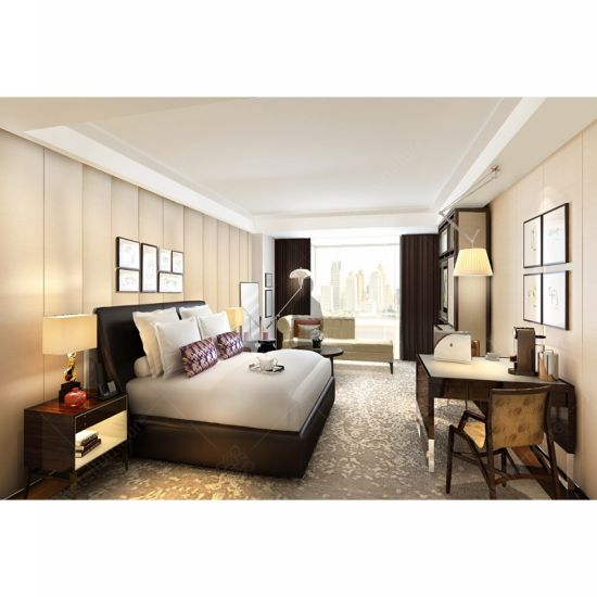Customized Luxury Contemporary Hilton Hospitality Hotel Bedroom Furniture Set for Hotel Room