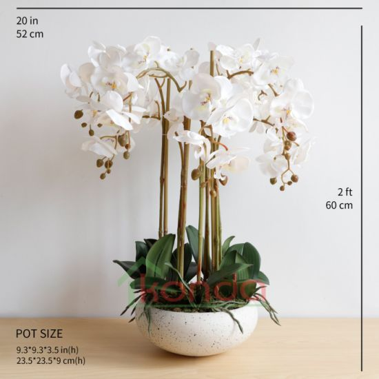 High Quality Simulation Touch Feel Colorful Artificial Orchid Flower Decorative