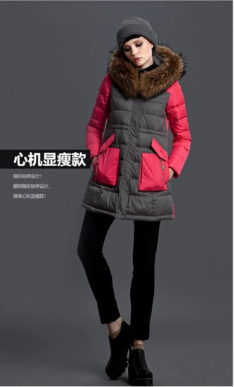 Wholesale Stock Splicing Sleeve Down Jacket Coat in Winter and Fall