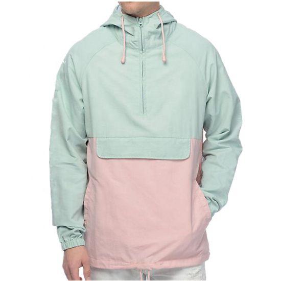 Half Zip Pullover Streetwear Men Windbreaker Jacket