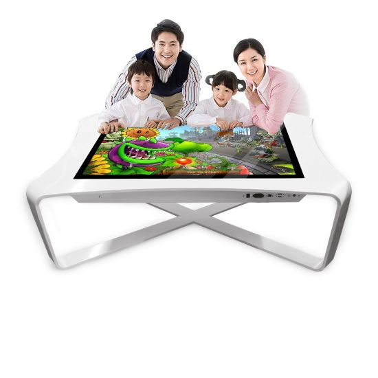 White/Black Color Andorid Rk3288 Touch Screen Digital Sigange Coffee Table 43 Inches