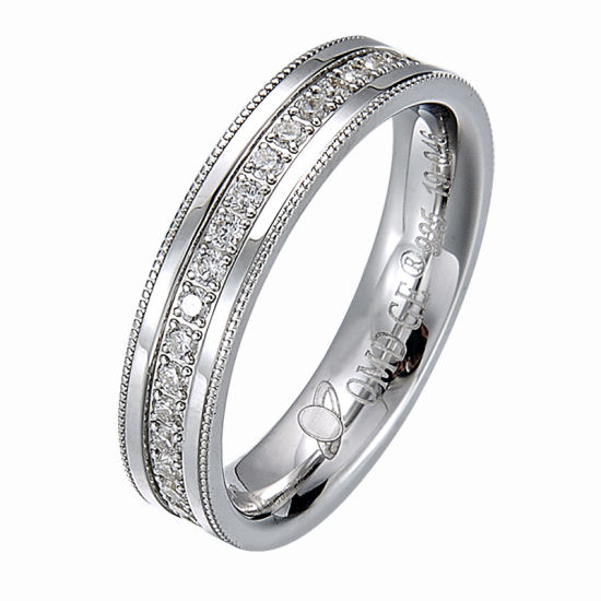White Gold Plating 925 Silver Jewelry Sterling Silver Couple Rings