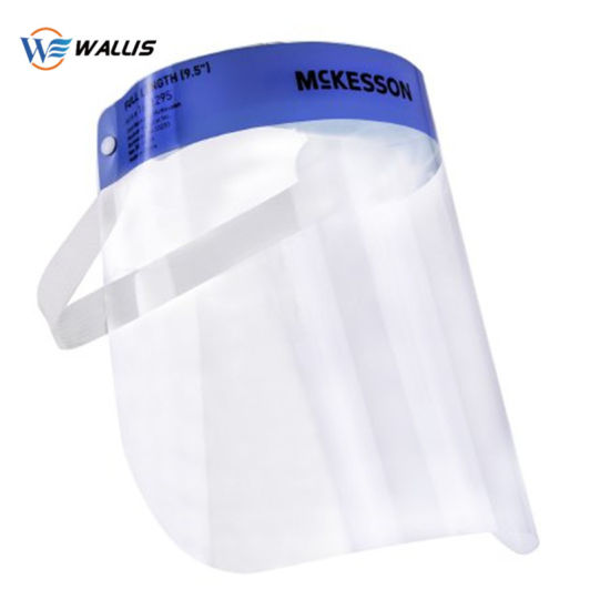 Ce Approved Face Shield Full Face Anti-Spitting Saliva Splash Protection Safety Face Visor Reusable Clear PETG Pet Film