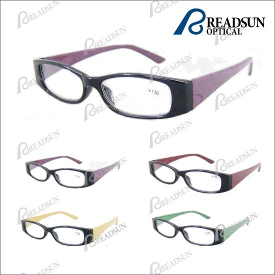 Plastic Injection Frame with Wood Pattern Reading Glasses (RP93205)