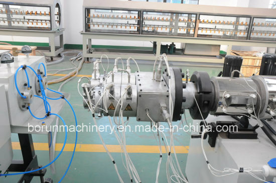 High Speed Automatic Plastic PE PP HDPE PPR Tube Pipe Extruder Extrusion Machine pictures & photos