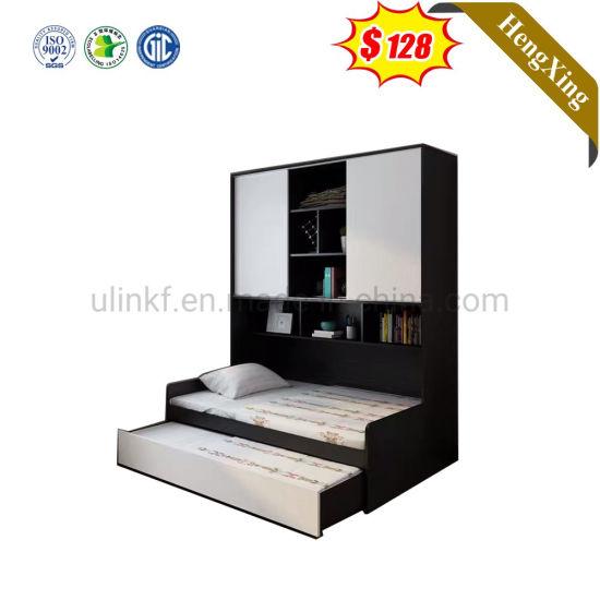 Modern Wholesale Wooden Black Children Bedroom Furniture Set Double Single Kids Bed Bunk Bed Set