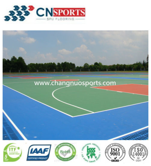 Multi Purpose Sports Flooring for Various Court Floor (silicon PU) pictures & photos