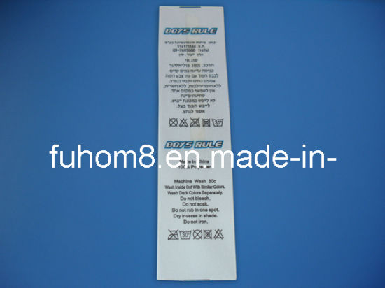 Apparel Accessories Fireproofing Garment Printed Label