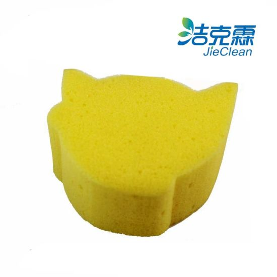 Yellow Car Cleaning Scourer Sponge