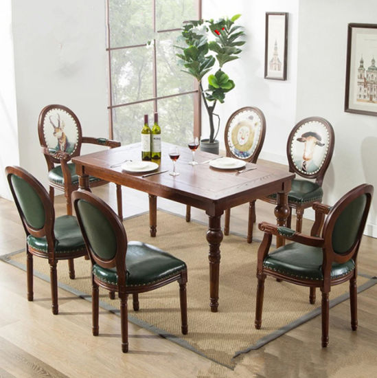 Luxury Solid Wood Table Top Square Rectangle Oval Dining Table