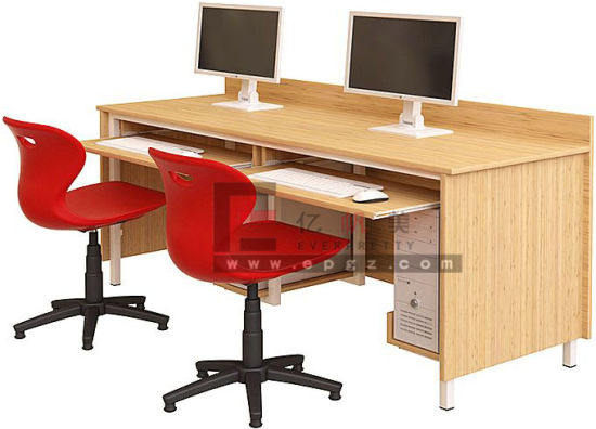 Wooden Computer Table for School Computer Laboratory Room
