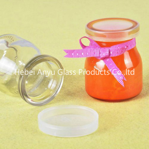 200ml Glass Jar for Water/Fruit Juice/ Beverage/ Milk Glass Bottle with Straw and Screw Cap pictures & photos