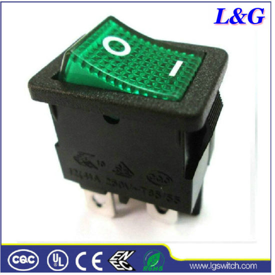 Power 12A 250VAC 4pins on-off Micro Rocker Switch