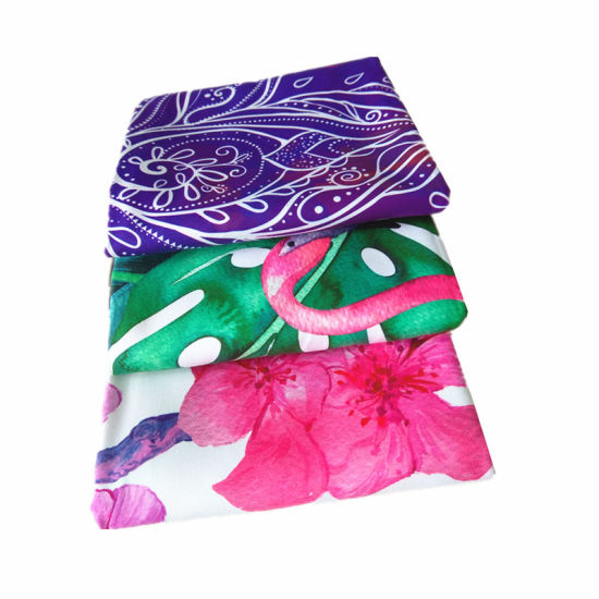Custom Printed Microfiber Yoga Towel with Private Label pictures & photos