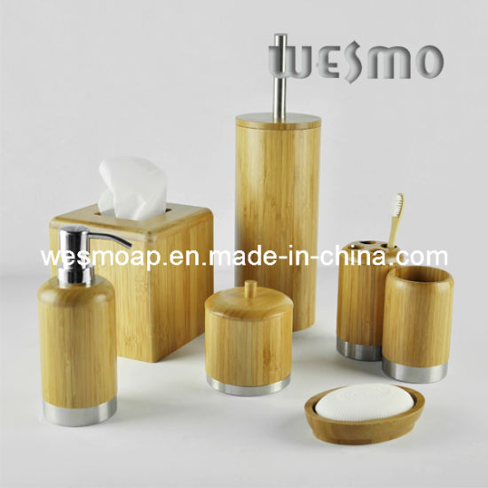 Bamboo Bathroom Set with Metal Parts (WBB0616A)
