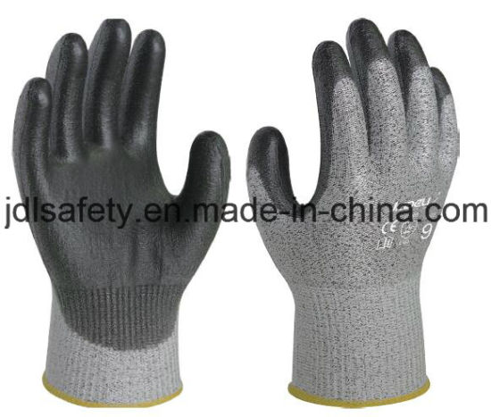 Industrial Using Keep Hands Safety Personal Protective Equipment Anti-Cut Safety Work Glove with PU Coated (PD8024)