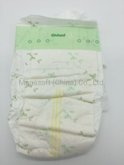 Big Ear Diaper 100% Biodegradable Bamboo with Elastic Waist Band Applicable for 0-6month