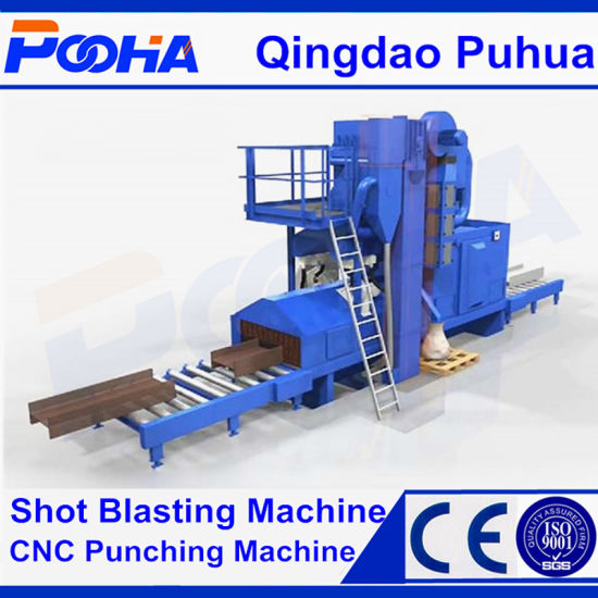 Steel Plate Surface Automatic Pre-Treatment Line/Roller Type Shot Blasting Machine/Wheel Blasting pictures & photos