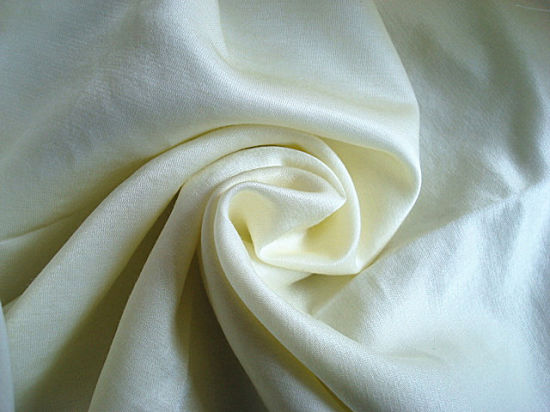 Silk Cotton Interweave Satin Fabric Plain Dyed pictures & photos