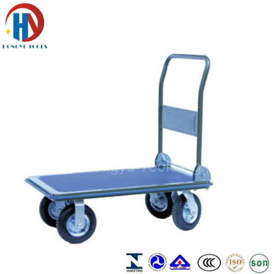 Plastic Hand Trolley Platform Hand Truck pictures & photos