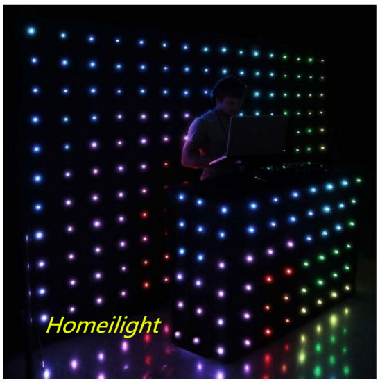 P18 3m*3m RGB3in1 Color, LED Vision Curtain, LED Video Screen, DJ Backdrops for Wedding, Stage, pictures & photos