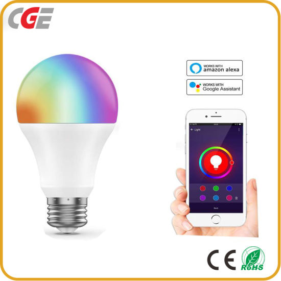 E27 B22 WiFi Smart LED Bulb 10W Intellegent Warn Lighting Dimmable LED Lamp APP Control Work with Alexa Google Assistant