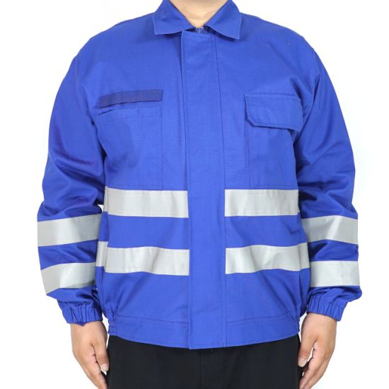 Red Fire Retardant Fireproof Safety Coverall with Reflective Tape Fluorescent