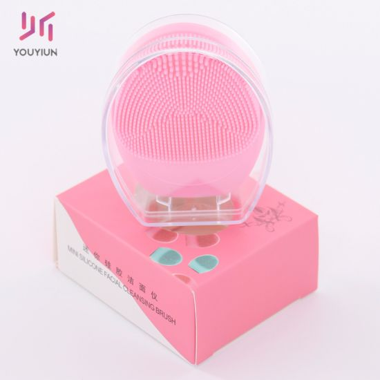 2020 Latest Silicone Face Cleaning Brush Electric Facial Pore Cleaner Rechargeable Face Cleansing Brush