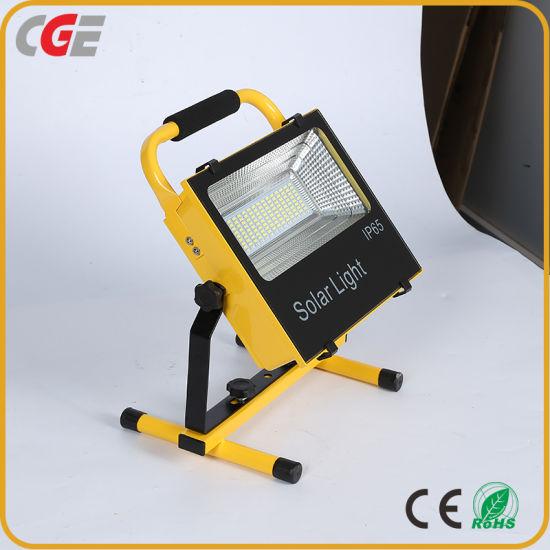 50W Solar Integrated Emergency LED Flood Light Outdoor Light Waterproof Camping Light Portable