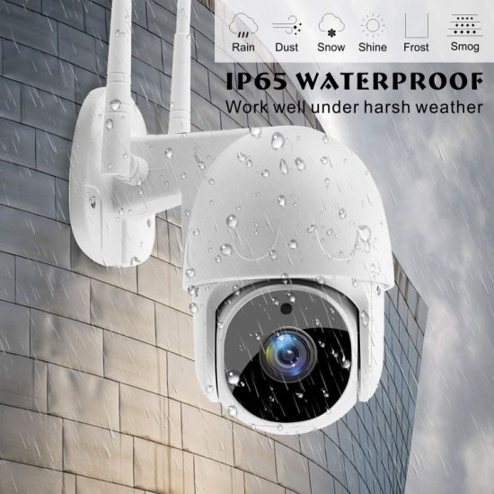 Good Quality Tuya APP Waterproof Smart Wireless Camera WiFi CCTV Camera CCTV Video HD Mini PTZ Dome for Home Security and Outdoor Use